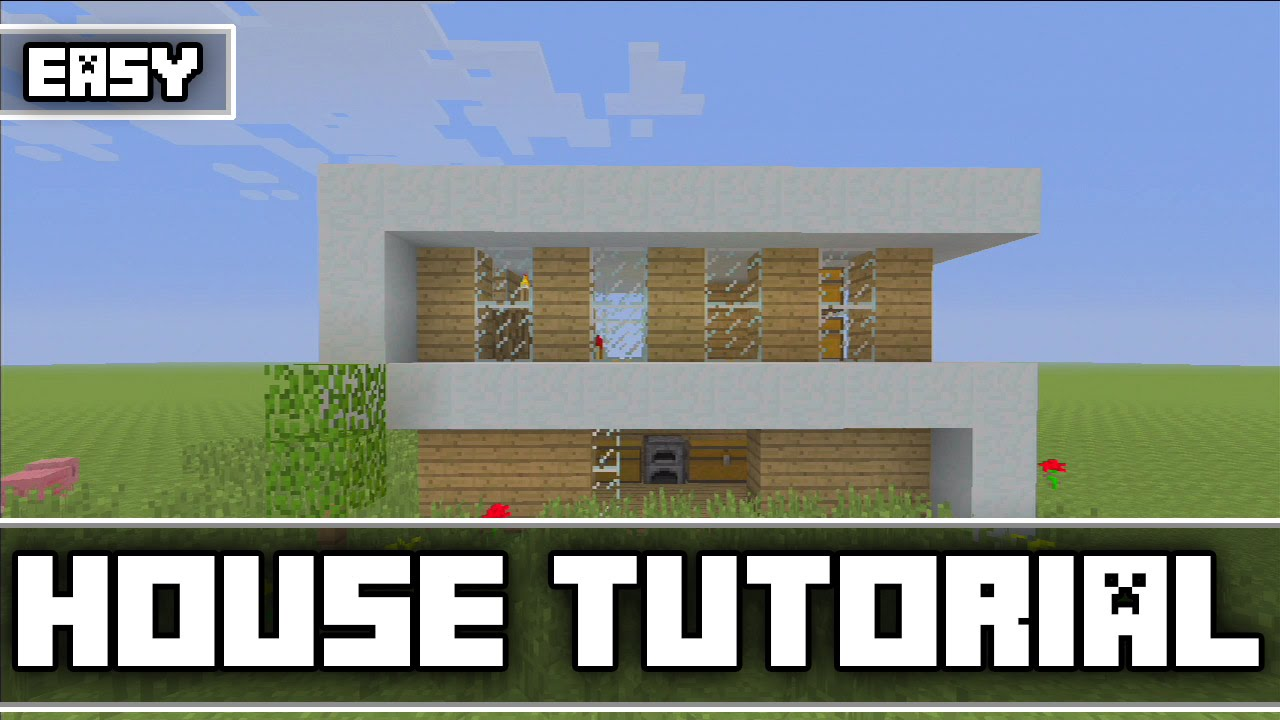 minecraft simple modern survival house tutorial xbox 360 ps3 xbox