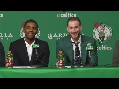 Kyrie Irving already setting up Gordon Hayward with jokes | ESPN