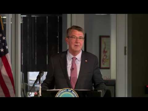Secretary of Defense Ash Carter speaks at Capital Factory on Defense Innovation