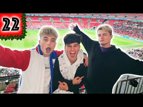WE STARTED A MEXICAN WAVE AT THE WEMBLEY CUP! - VLOGMAS