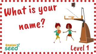What is your/her/his name? Children song with karaoke subtitle - English Seed - Level 1