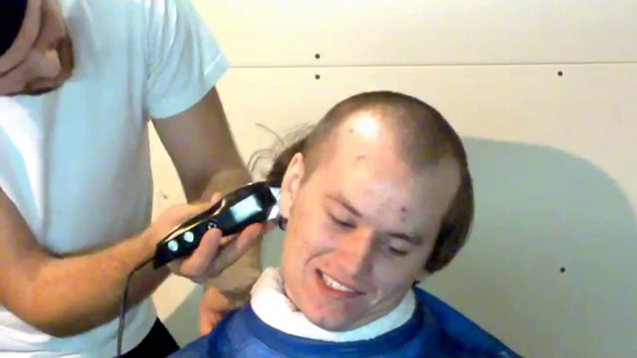 Getting His Head Shaved 5
