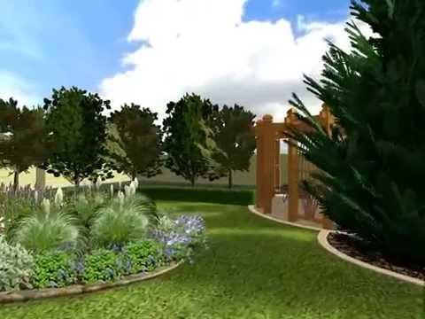 Живые изгороди и зеленые комнаты сада в ландшафтном