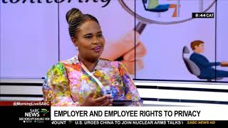 Employer and employee rights to privacy