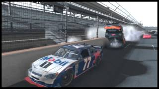 NASCAR 09 Flips and Crashes