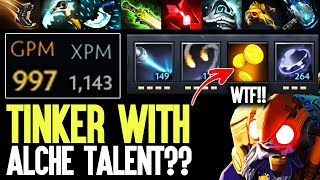The Tinker Who Farm Like A Alchemist - Radical Crazy Fast Farm Monster Mode Dota 2