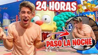 24 HORAS EN UN PARQUE DE DIVERSIONES !!