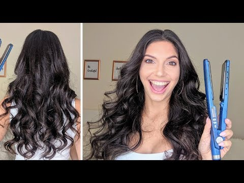 HOW TO CURL YOUR HAIR  WITH A FLAT IRON EASY + CURLS WITH HAIR EXTENSIONS + GIVEAWAY 🎉