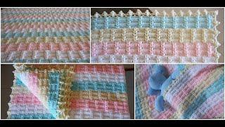 Ekose Desenli Bebek Battaniyesi Yapımı