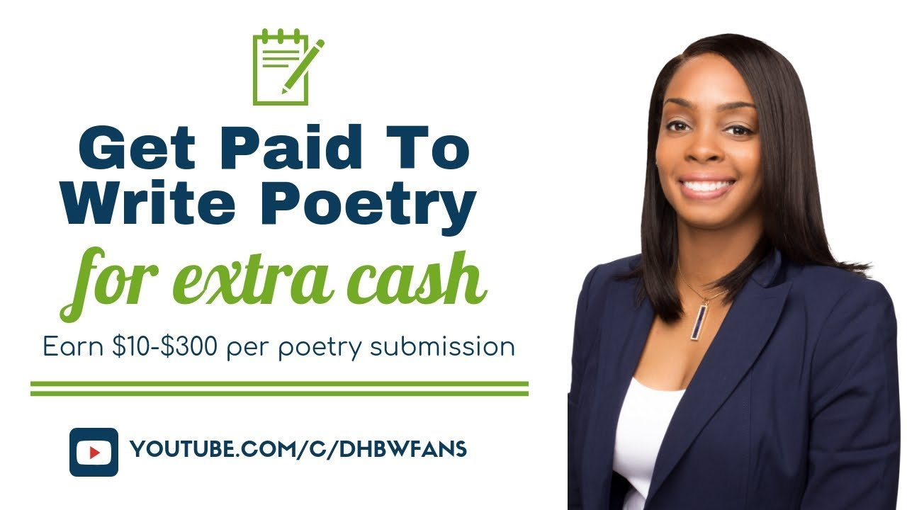 get paid to write poems online  earn  10- 300 per poetry submission