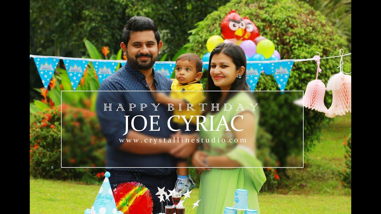 first birthday celebration joe cyriac crystalline youtube