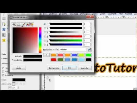 GIMP [ITA] - Creare del testo con il bordo