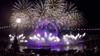 FULL HD London New Year Fireworks 2016 (fireworks + Auld Lang Syne)