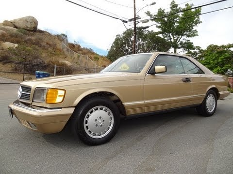 Mercedes Benz 500SEC W126 Coupe Classic Youngtimer Test Drive Start Up 500 SEC Video Review