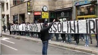 Lazio fans hang pro-Mussolini banner, make Roman salutes ahead of Liberation day