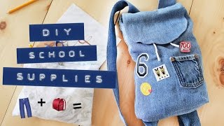 JEANS TO BACKPACK UPCYCLE | DIY SCHOOL SUPPLIES | THE SORRY GIRLS