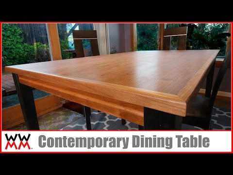 How To Make Contemporary Dining Table