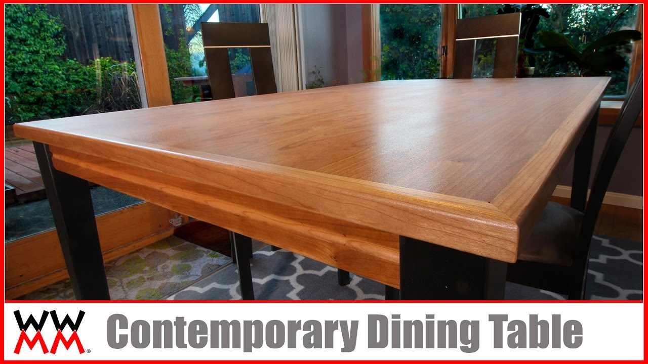 How to Make a Contemporary Dining Table | DIY Furniture - YouTube