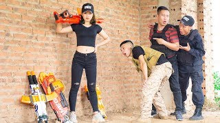 Nerf War: Commandos Marines Humiliate Warrior Girl Nerf Gun And Retaliated | Nerf Movie