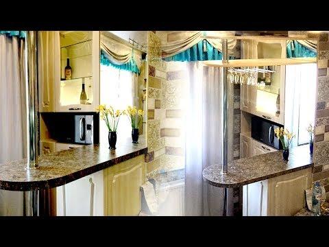 🍷 Барная стойка для кухни. 💎Дизайн кухонного гарнитура с барной стойкой в маленькой кухне на заказ