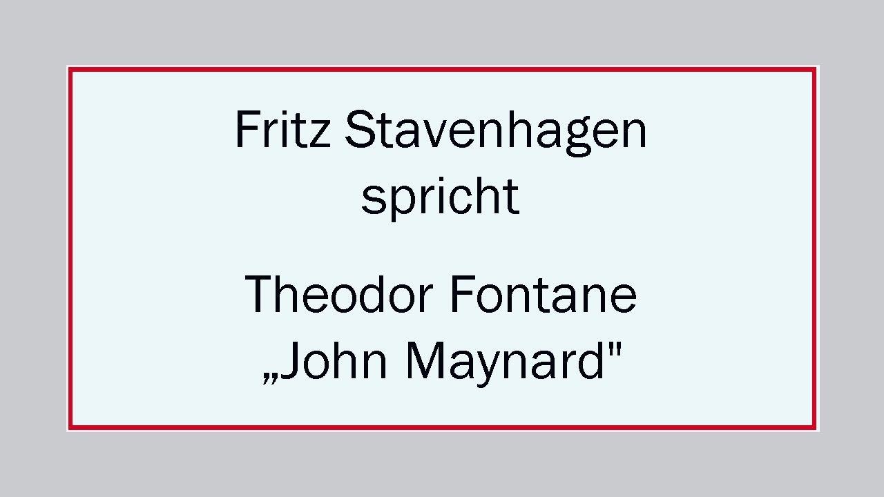 John Maynard Theodor Fontane Interpretation 377 Realismus