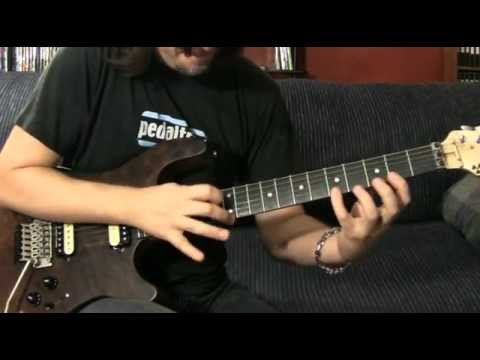 "parts of Nuno Bettencourt's intro to ""Mutha"" - guitar lesson"