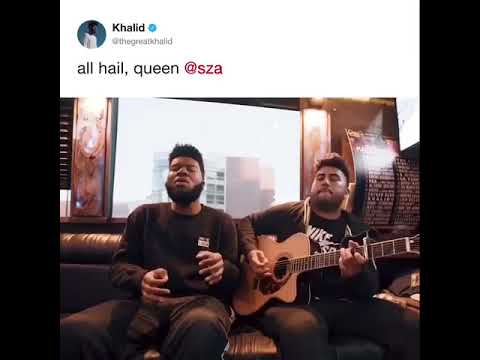 "Khalid covering ""Love Galore"" / ""The Weekend""     by SZA 😯👏👏"
