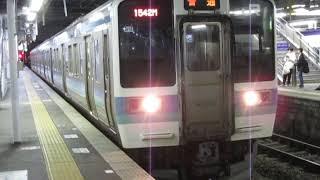 中央東線211系松本駅発車※発車メロディーあり