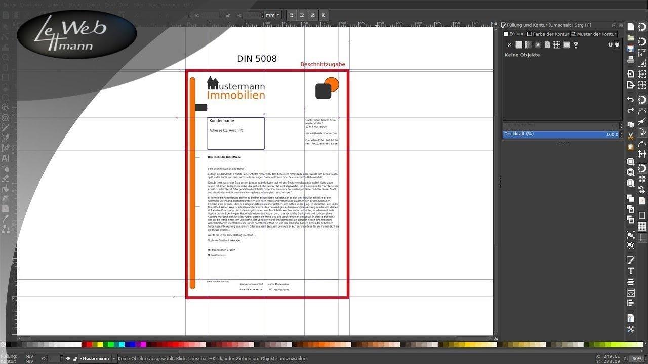 Vektorgrafik Tutorials Mit Inkscape 006 Briefvorlage