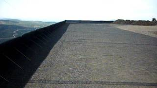 Geogrid and geotextile for 50 cm backfilling