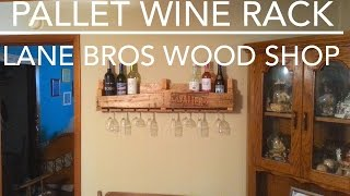 DIY Easy Pallet Wine Rack