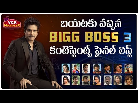 Repeat Bigg Boss Telugu Season 3 Contestants List Revealed || VCR