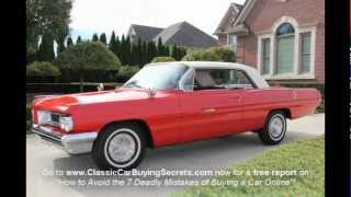 1962 Pontiac Grand Prix Classic Muscle Car for Sale in MI Vanguard Motor Sales