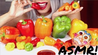ASMR Eating Sweet Peppers *No talking*
