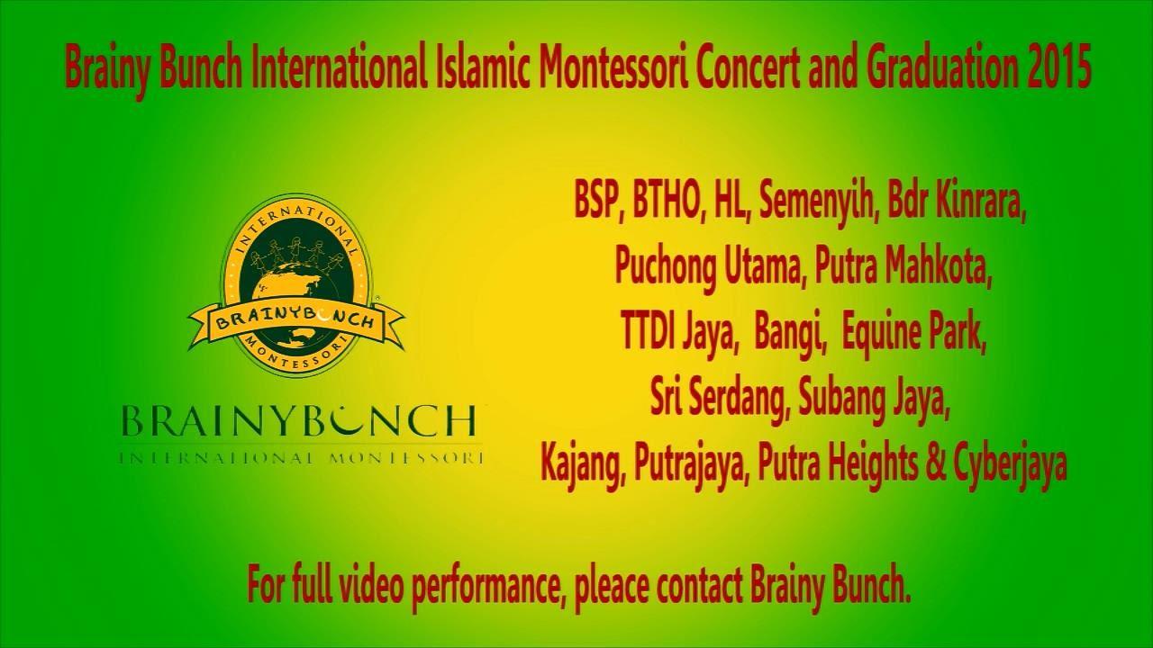Brainy Bunch Concert Graduation 2015 21 22 November Session