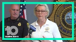 Tampa Mayor Jane Castor, Police Chief Brian Dugan speak about protests