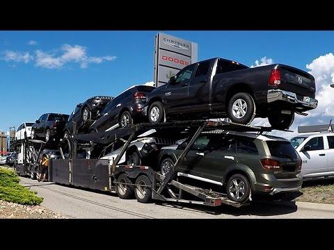 AUTO TRANSPORT CARRIER #04 -- Chrysler, Dodge, Jeep, RAM.  Real Time Unload: 32 Min.