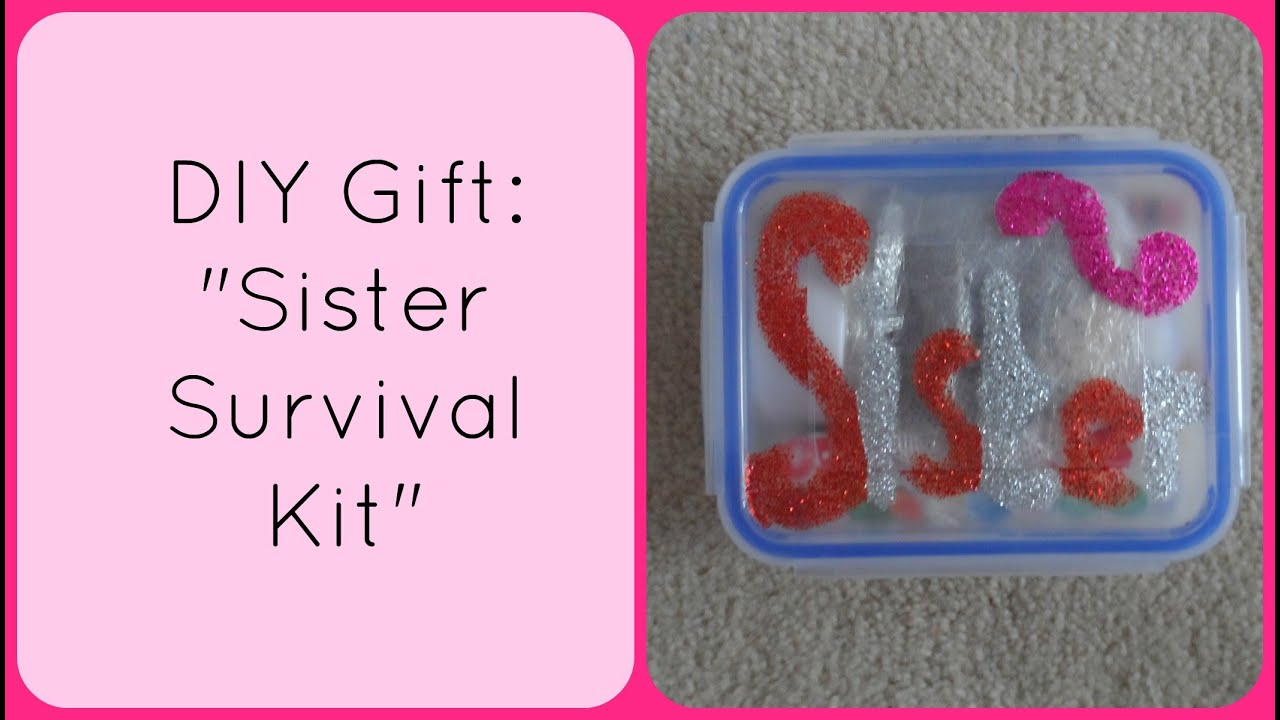 Diy Christmas Gift Sister Survival Kit Accentgirl100 You