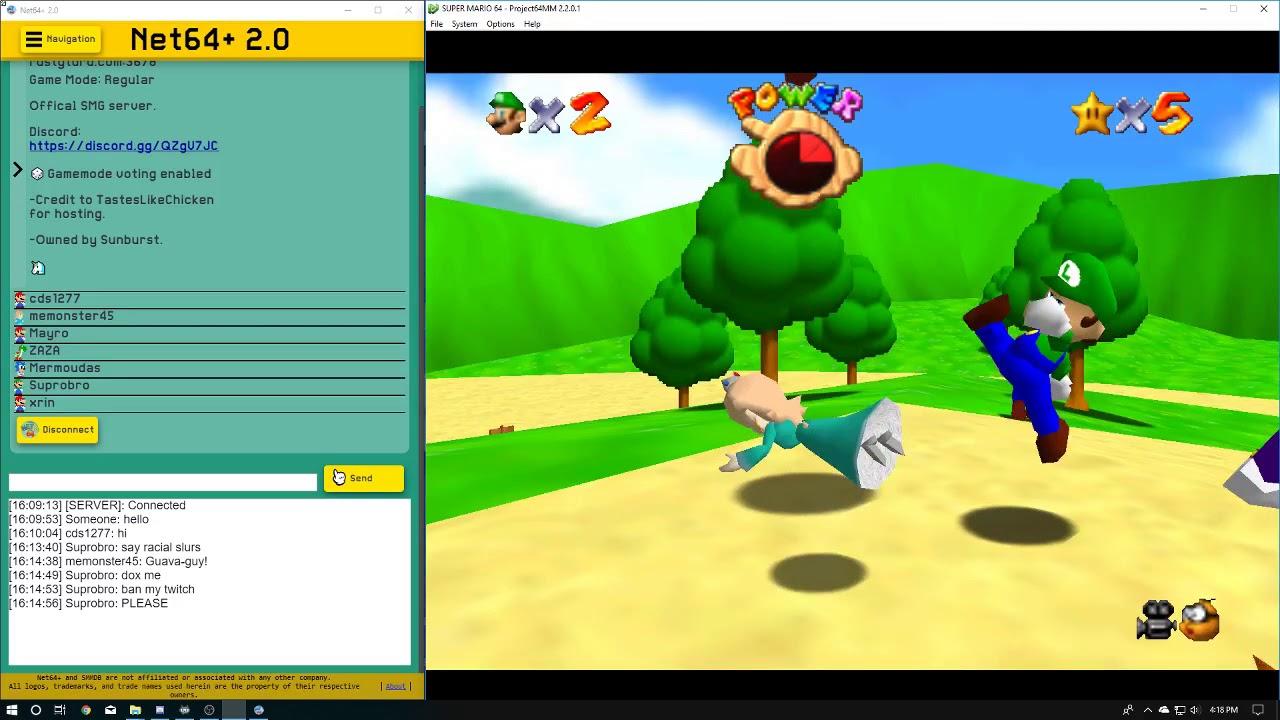 Mario 64 Online W/ Memonster45 Part 1 Aug 12, 2018