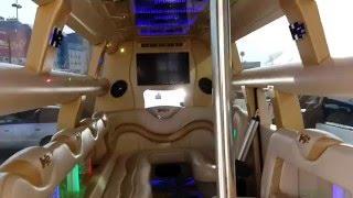 Видео Лимузин Mega Hummer(У нас в предложении лимузины: Лимузин MEGA Hummer H2 Disco-Open, Cadillac Escalade, Hummer H2, Chrysler 300C (белый и черный), Excalibur, ..., 2016-01-27T13:23:39.000Z)