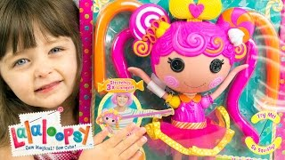 Lalaloopsy Stretchy Hair Doll Whirly Stretchy Locks Review by Kinder Playtime