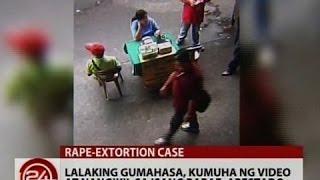 Repeat youtube video 24 Oras: Lalaking gumahasa, kumuha ng video at nangikil sa isang babae, arestado