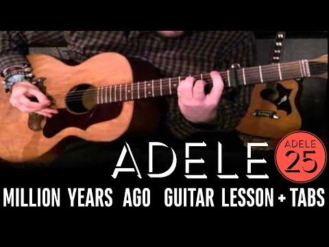 Adele - Million Years Ago (EASY Guitar LESSON + TABS)
