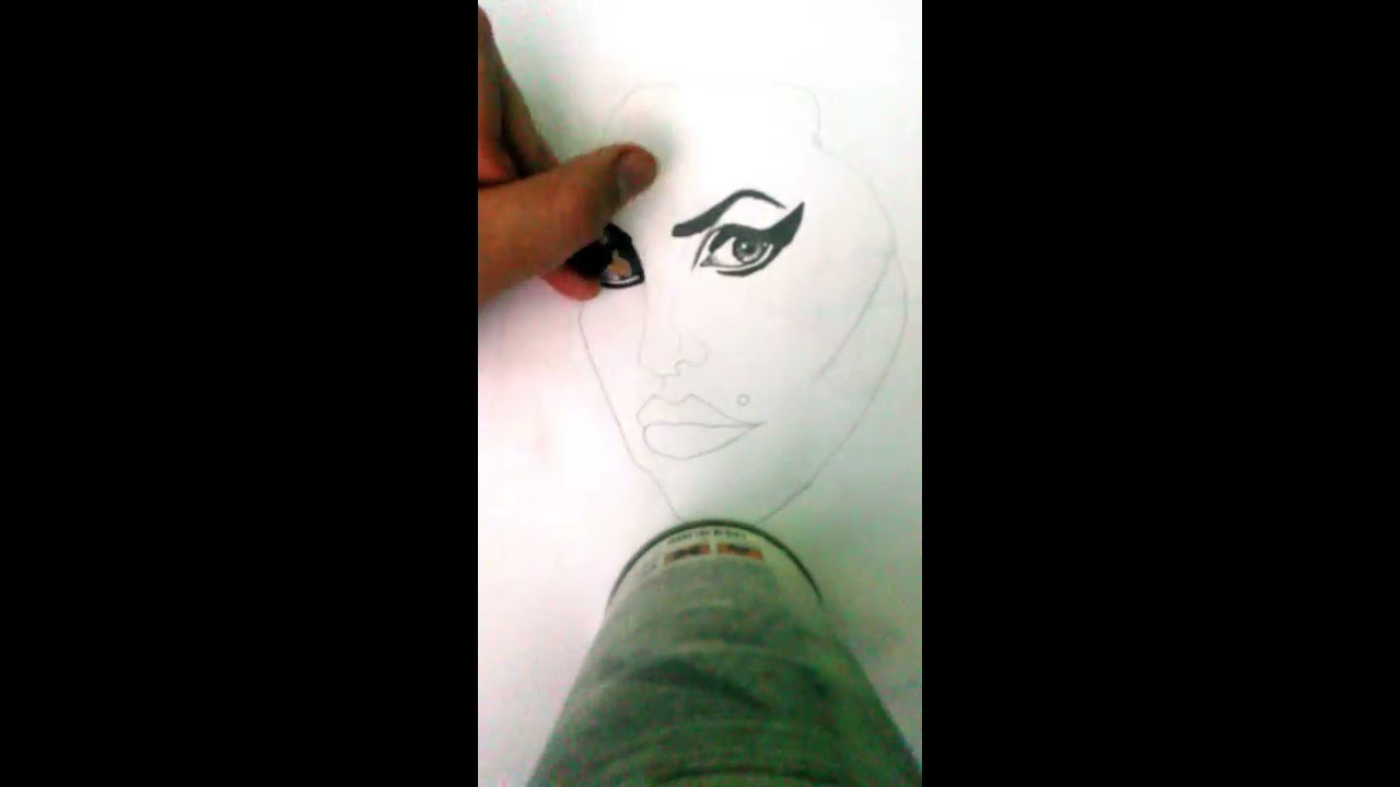 How To Draw Amy Winehouse S Face By Ctartworld Youtube