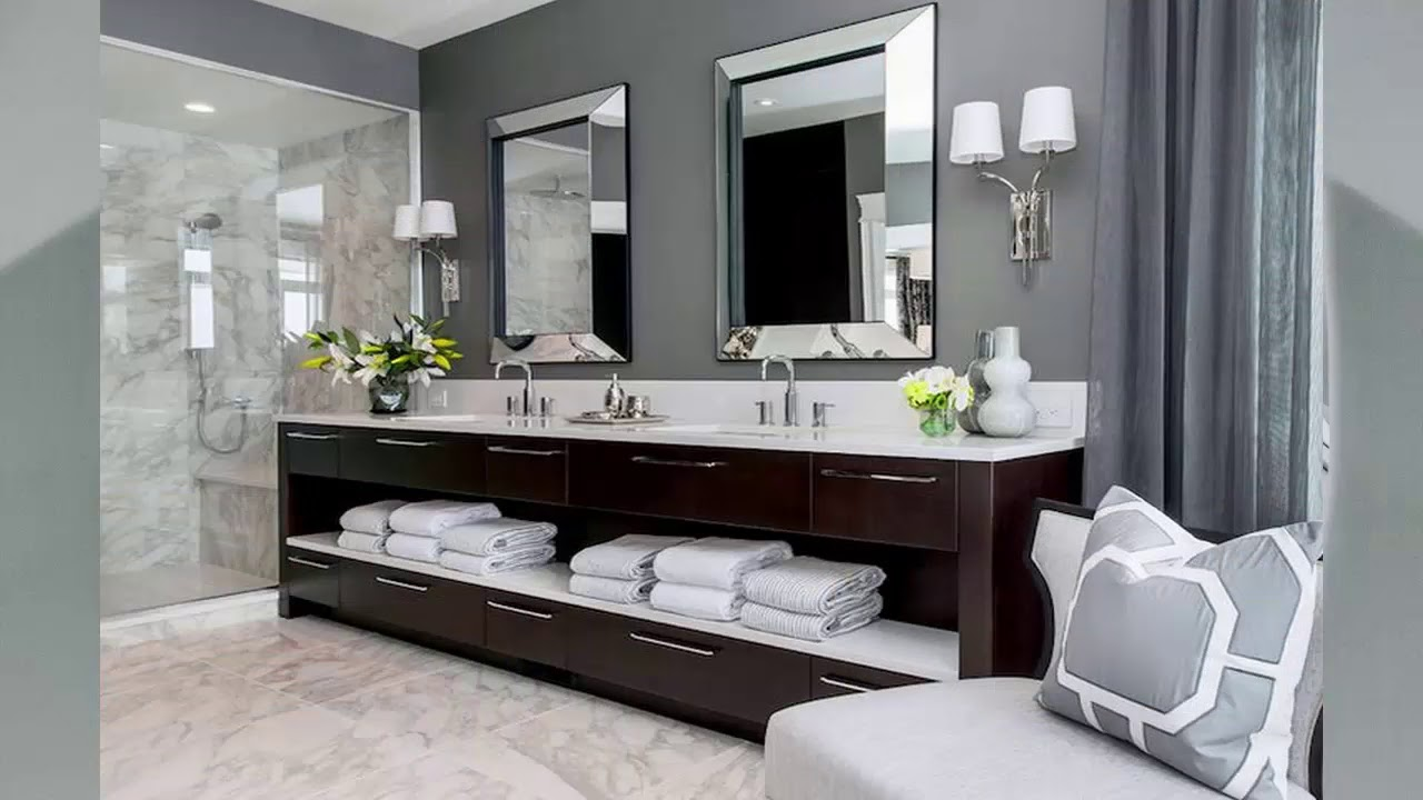 Badezimmer Ideen Grau Weiß - YouTube