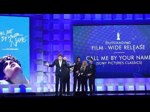 James Ivory & Peter Spears accept award for 'Call Me By Your Name' | 29th Annual GLAAD Media Awards