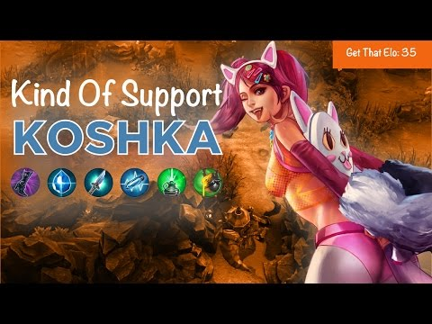 Vainglory - Get That Elo EP 035: Kind Of Support Koshka Gameplay (Update 1.21)