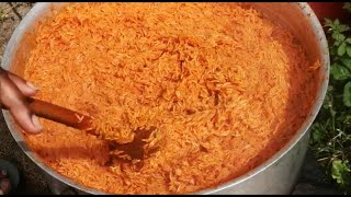 HOW TO MAKE PARTY JOLLOF RICE FOR 20 - 30 PEOPLE