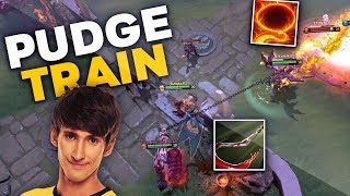 Dendi Pudge Legend trying NEW 7.23 Patch with Signature Hero Pudge - Funny Combo with Batrider Dota2