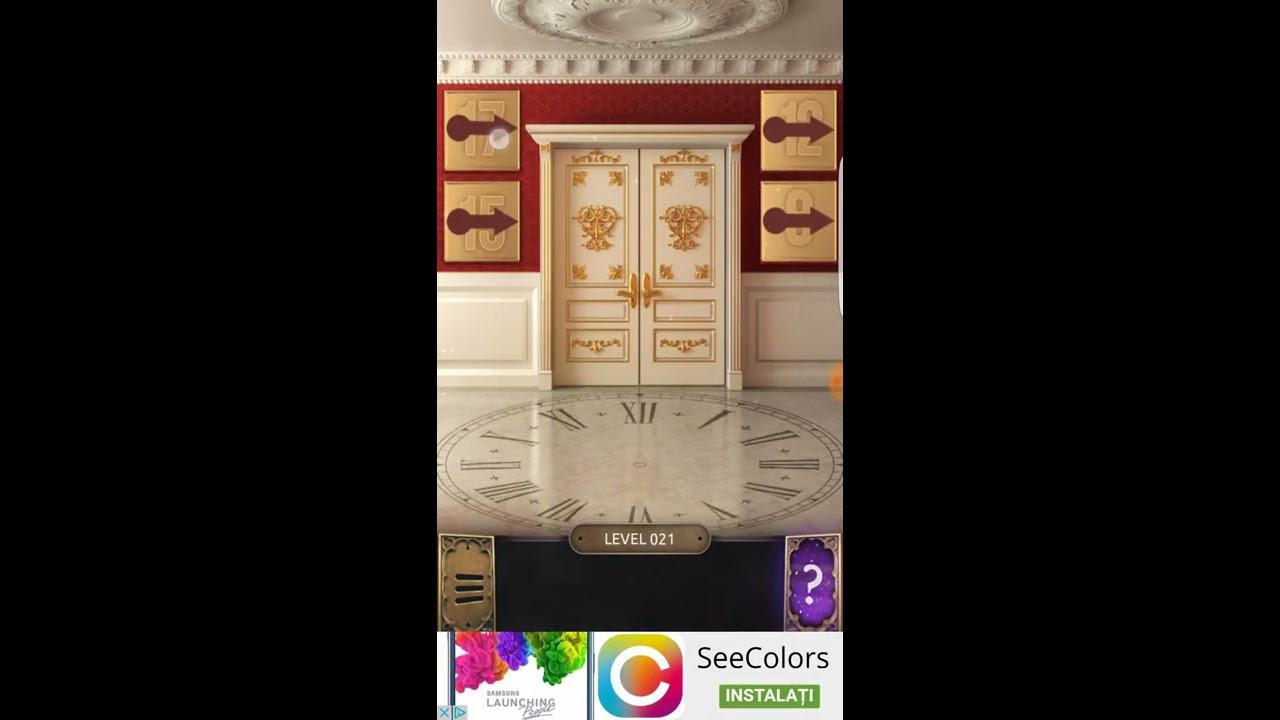 100 doors challange level 17 18 19 20 21 22 youtube for 100 doors door 22